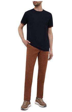 Мужская хлопковая футболка BOSS темно-синего цвета, арт. 50450156 | Фото 2