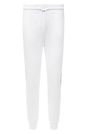 Мужские хлопковые джоггеры HUGO белого цвета, арт. 50456884 | Фото 1