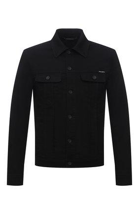 Мужская джинсовая куртка DOLCE & GABBANA черного цвета, арт. G9VZ8D/G8CN9 | Фото 1