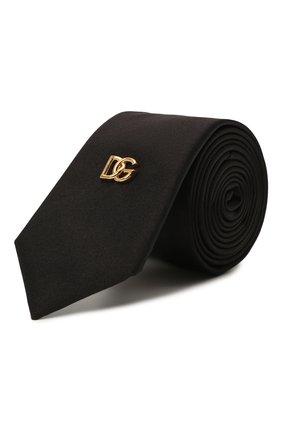 Мужской шелковый галстук DOLCE & GABBANA черного цвета, арт. GT149E/GEV14 | Фото 1