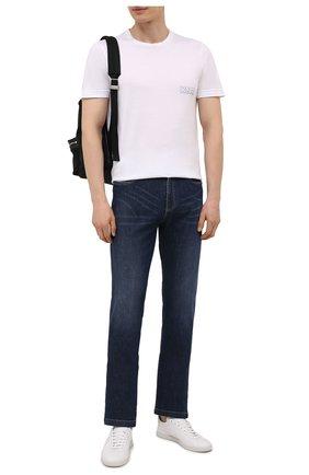 Мужские джинсы PAUL&SHARK синего цвета, арт. 11314111R/CYB | Фото 2
