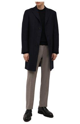 Мужские кожаные дерби SANTONI черного цвета, арт. MCLG17803SM3EABMN01 | Фото 2