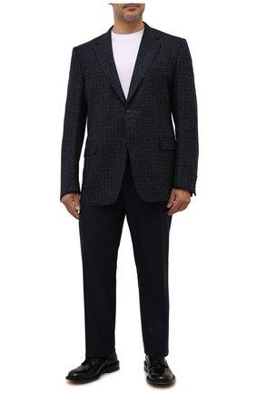 Мужские шерстяные брюки CANALI темно-синего цвета, арт. 71012/AN00019/60-64   Фото 2