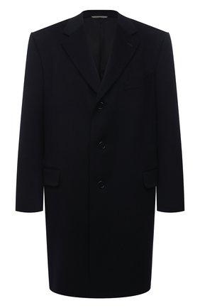 Мужской пальто из шерсти и кашемира CANALI темно-синего цвета, арт. 57110/FU00039/60-64   Фото 1
