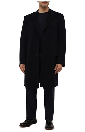 Мужской пальто из шерсти и кашемира CANALI темно-синего цвета, арт. 57110/FU00039/60-64   Фото 2
