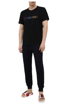 Мужская хлопковая футболка CALVIN KLEIN черного цвета, арт. NM2091E | Фото 2