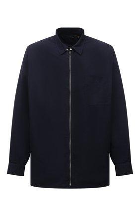 Мужская хлопковая рубашка POLO RALPH LAUREN темно-синего цвета, арт. 711842650/PRL BS | Фото 1