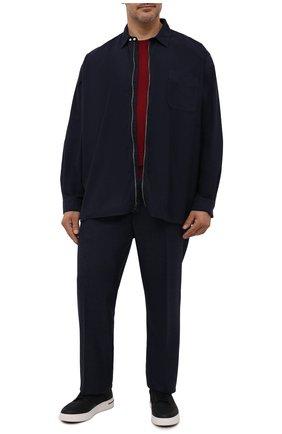 Мужская хлопковая рубашка POLO RALPH LAUREN темно-синего цвета, арт. 711842650/PRL BS | Фото 2