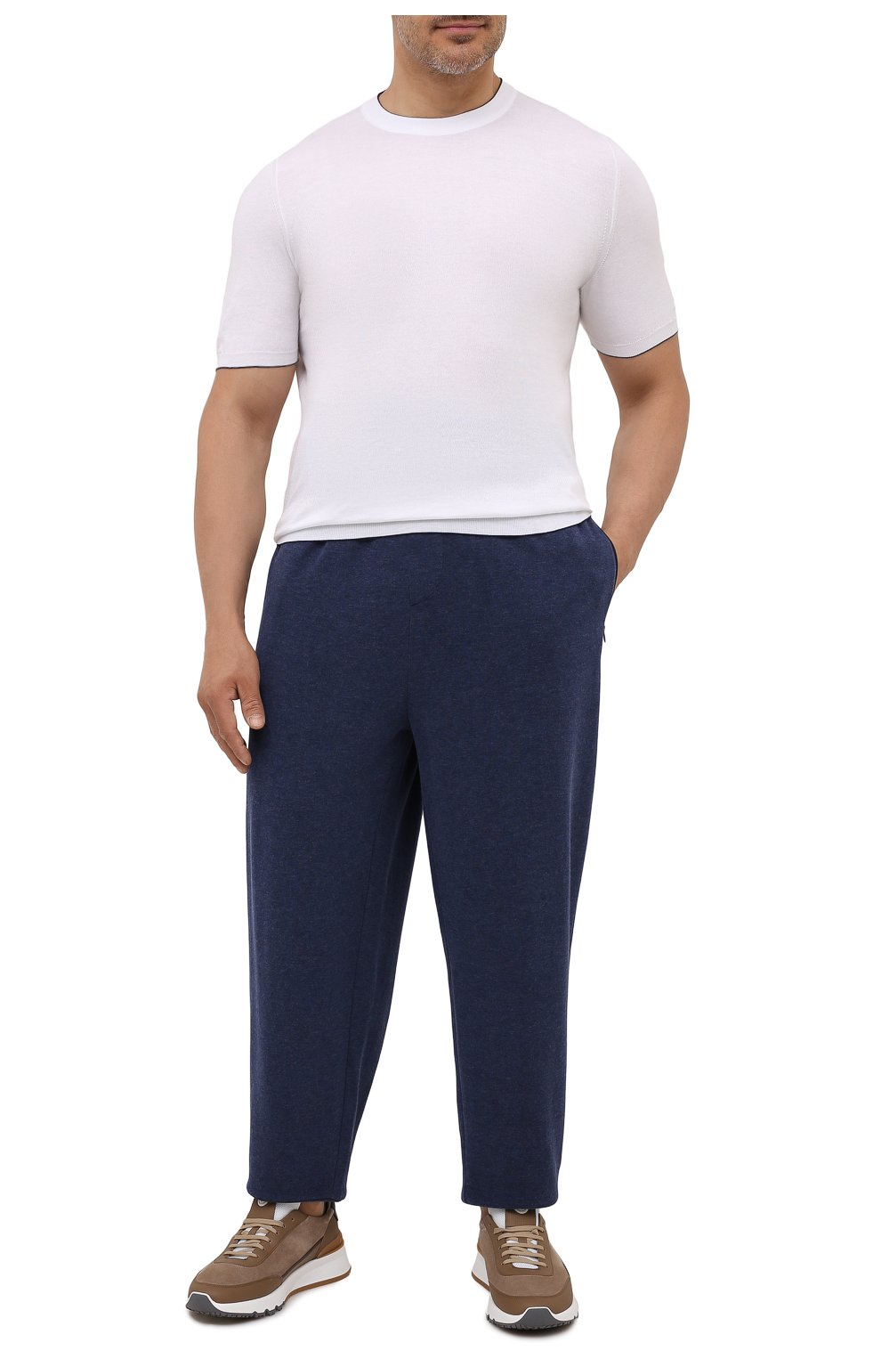Мужские джоггеры из хлопка и вискозы POLO RALPH LAUREN темно-синего цвета, арт. 711718533/PRL BS   Фото 2 (Big sizes: Big Sizes; Мужское Кросс-КТ: Брюки-трикотаж; Длина (брюки, джинсы): Стандартные; Материал внешний: Хлопок; Стили: Спорт-шик; Силуэт М (брюки): Джоггеры)