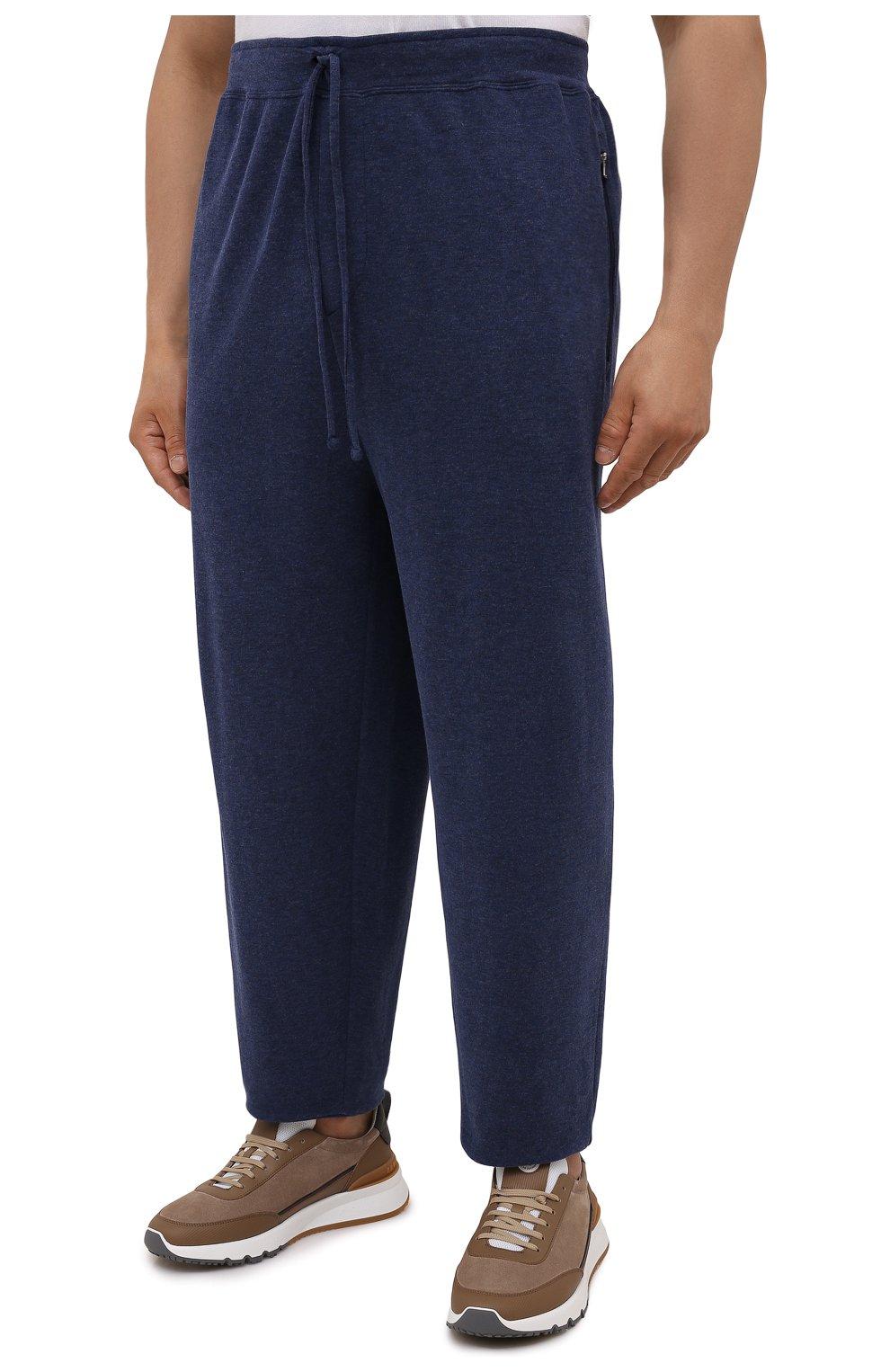 Мужские джоггеры из хлопка и вискозы POLO RALPH LAUREN темно-синего цвета, арт. 711718533/PRL BS   Фото 3 (Big sizes: Big Sizes; Мужское Кросс-КТ: Брюки-трикотаж; Длина (брюки, джинсы): Стандартные; Материал внешний: Хлопок; Стили: Спорт-шик; Силуэт М (брюки): Джоггеры)