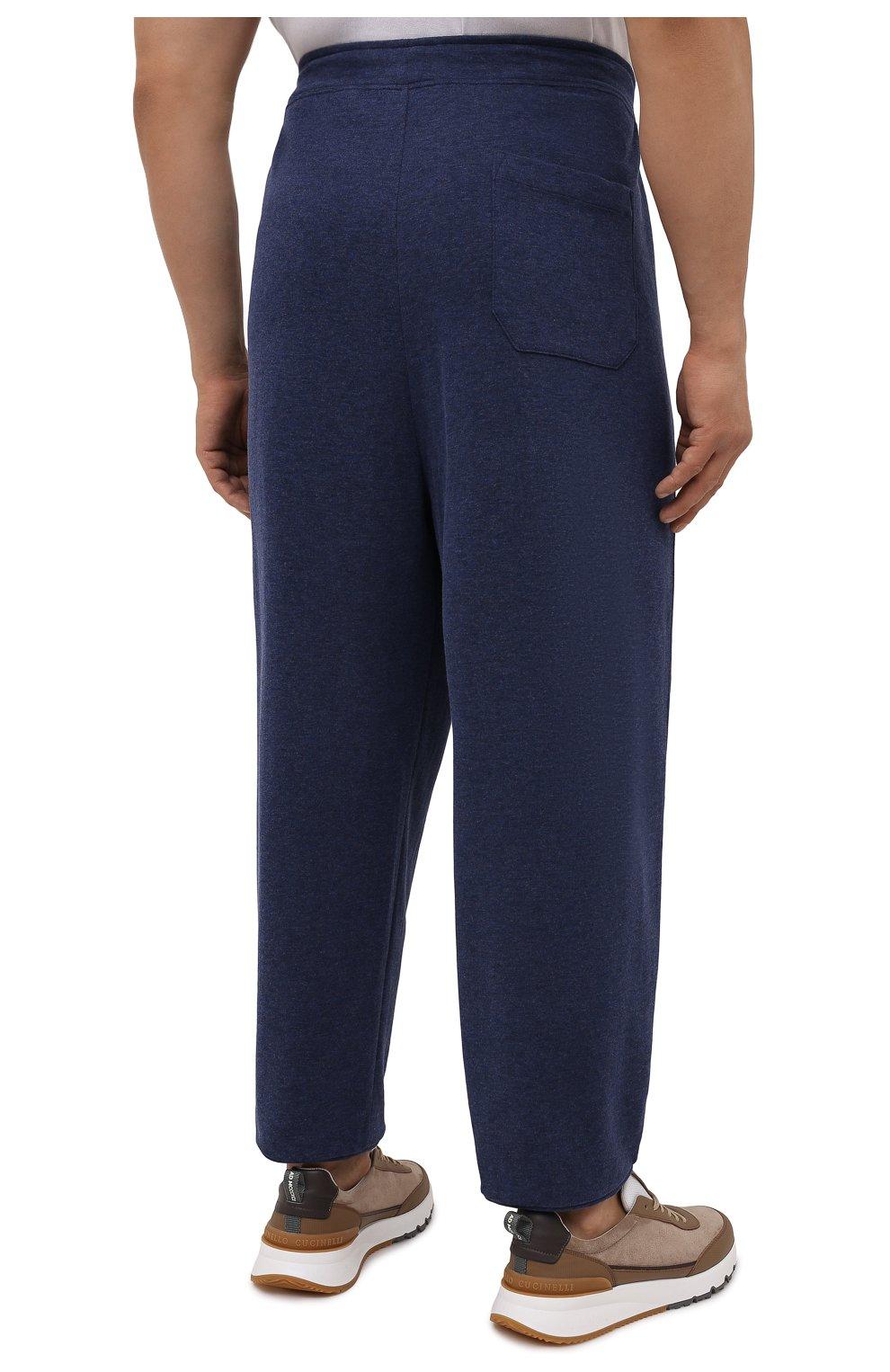 Мужские джоггеры из хлопка и вискозы POLO RALPH LAUREN темно-синего цвета, арт. 711718533/PRL BS   Фото 4 (Big sizes: Big Sizes; Мужское Кросс-КТ: Брюки-трикотаж; Длина (брюки, джинсы): Стандартные; Материал внешний: Хлопок; Стили: Спорт-шик; Силуэт М (брюки): Джоггеры)