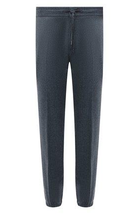 Мужские шерстяные джоггеры Z ZEGNA серо-голубого цвета, арт. 224703/6300GW | Фото 1 (Длина (брюки, джинсы): Стандартные; Материал внешний: Шерсть; Силуэт М (брюки): Джоггеры; Стили: Спорт-шик)