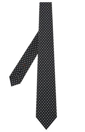 Мужской шелковый галстук ZEGNA COUTURE темно-синего цвета, арт. Z2C03T/13X | Фото 2 (Материал: Текстиль; Принт: С принтом)