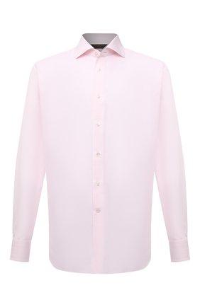 Мужская хлопковая сорочка ZEGNA COUTURE светло-розового цвета, арт. E02302/9NS0LB | Фото 1