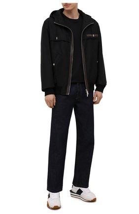 Мужская хлопковая футболка KNT черного цвета, арт. UMM0171 | Фото 2 (Материал внешний: Хлопок; Рукава: Короткие; Принт: Без принта; Стили: Кэжуэл; Длина (для топов): Стандартные)