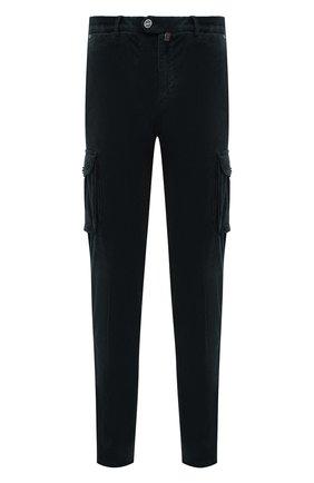 Мужские брюки-карго из хлопка и кашемира KITON темно-зеленого цвета, арт. UFPPCAJ0306A | Фото 1 (Материал внешний: Хлопок; Длина (брюки, джинсы): Стандартные; Силуэт М (брюки): Карго; Случай: Повседневный; Стили: Кэжуэл)