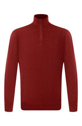 Мужской кашемировый джемпер LORO PIANA красного цвета, арт. FAG4525 | Фото 1