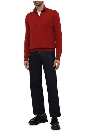 Мужской кашемировый джемпер LORO PIANA красного цвета, арт. FAG4525 | Фото 2