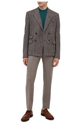 Мужские кожаные дерби W.GIBBS светло-коричневого цвета, арт. 0105003/2246 | Фото 2