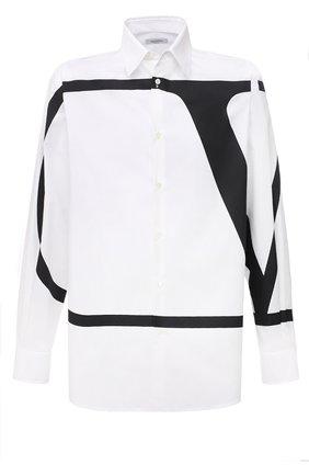Мужская хлопковая рубашка VALENTINO белого цвета, арт. WV3ABA957KJ | Фото 1