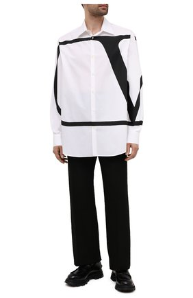 Мужская хлопковая рубашка VALENTINO белого цвета, арт. WV3ABA957KJ | Фото 2