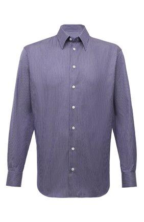 Мужская хлопковая сорочка GIORGIO ARMANI синего цвета, арт. 1WGCCZ70/TZA15 | Фото 1