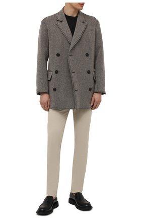 Мужской бушлат GIORGIO ARMANI серого цвета, арт. 1WG0C06D/T02RT | Фото 2 (Рукава: Длинные; Длина (верхняя одежда): Короткие; Материал внешний: Шерсть; Материал подклада: Синтетический материал; Мужское Кросс-КТ: пальто-верхняя одежда; Стили: Кэжуэл)