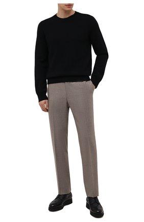 Мужские кожаные дерби DOUCAL'S темно-синего цвета, арт. DU1270DAK0PM019NB00 | Фото 2 (Стили: Классический; Мужское Кросс-КТ: Броги-обувь)