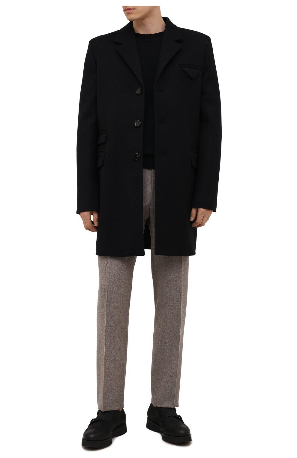Мужские кожаные монки DOUCAL'S черного цвета, арт. DU1275DAK0UT202NN00   Фото 2 (Материал внутренний: Натуральная кожа, Текстиль; Стили: Классический)