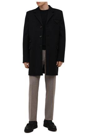 Мужские кожаные монки DOUCAL'S черного цвета, арт. DU1275DAK0UT202NN00 | Фото 2 (Материал внутренний: Натуральная кожа, Текстиль; Стили: Классический)