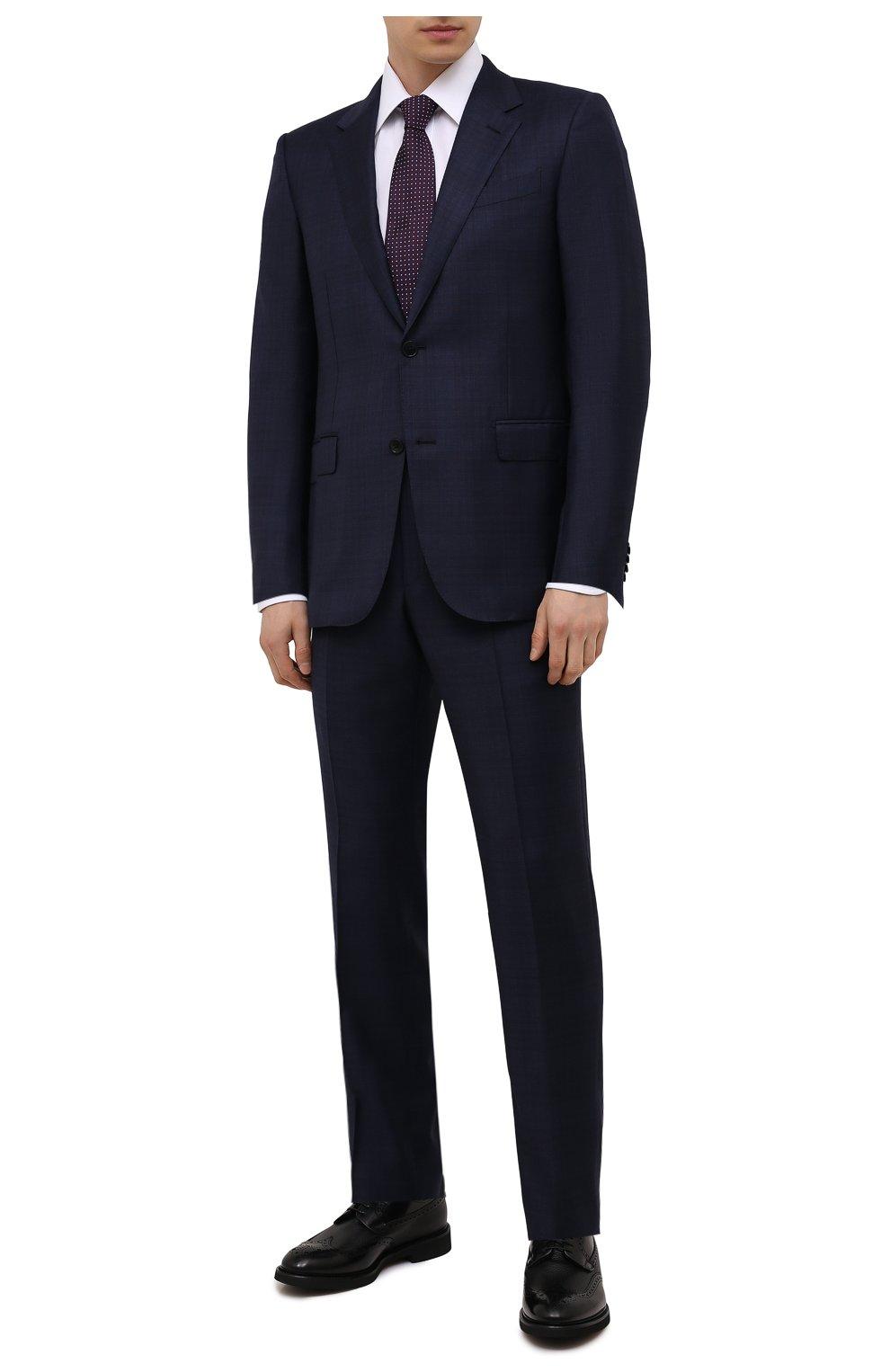 Мужские кожаные дерби DOUCAL'S черного цвета, арт. DU2478VER0PT547NN00 | Фото 2 (Мужское Кросс-КТ: Броги-обувь; Материал внутренний: Натуральная кожа, Текстиль; Стили: Классический)