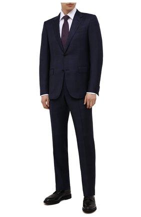 Мужские кожаные дерби DOUCAL'S черного цвета, арт. DU2478VER0PT547NN00 | Фото 2 (Материал внутренний: Натуральная кожа, Текстиль; Стили: Классический; Мужское Кросс-КТ: Броги-обувь)