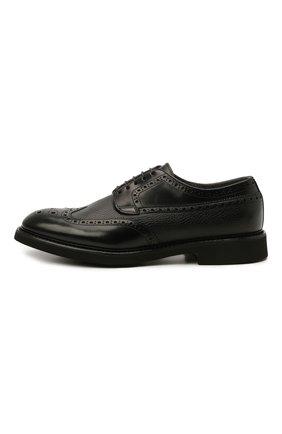Мужские кожаные дерби DOUCAL'S черного цвета, арт. DU2478VER0PT547NN00 | Фото 3 (Мужское Кросс-КТ: Броги-обувь; Материал внутренний: Натуральная кожа, Текстиль; Стили: Классический)