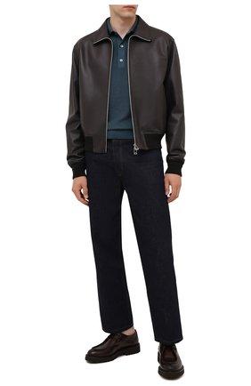 Мужские кожаные дерби DOUCAL'S коричневого цвета, арт. DU2737PHILUF087TM23 | Фото 2 (Материал внутренний: Натуральная кожа; Стили: Классический)