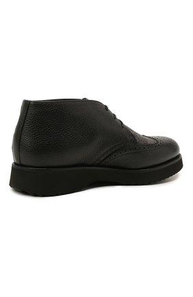 Мужские комбинированные ботинки DOUCAL'S черного цвета, арт. DU2888DAK0PT208NN00 | Фото 4 (Материал внешний: Текстиль; Мужское Кросс-КТ: Ботинки-обувь, Дезерты-обувь; Материал внутренний: Натуральная кожа, Текстиль; Подошва: Плоская)