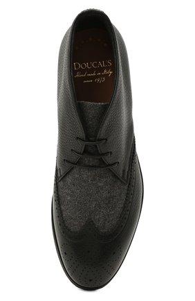 Мужские комбинированные ботинки DOUCAL'S черного цвета, арт. DU2888DAK0PT208NN00 | Фото 5 (Материал внешний: Текстиль; Мужское Кросс-КТ: Ботинки-обувь, Дезерты-обувь; Материал внутренний: Натуральная кожа, Текстиль; Подошва: Плоская)