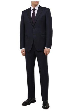 Мужские кожаные дерби DOUCAL'S черного цвета, арт. DU2900VER0UF019NN00 | Фото 2 (Материал внутренний: Натуральная кожа; Стили: Классический; Мужское Кросс-КТ: Броги-обувь)