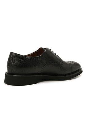 Мужские кожаные дерби DOUCAL'S черного цвета, арт. DU2900VER0UF019NN00   Фото 4 (Мужское Кросс-КТ: Броги-обувь; Материал внутренний: Натуральная кожа; Стили: Классический)