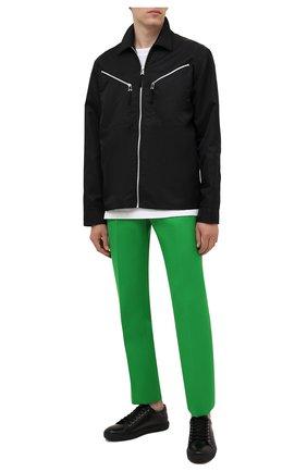 Мужские кожаные кеды RALPH LAUREN черного цвета, арт. 815844892 | Фото 2 (Подошва: Массивная; Материал внутренний: Натуральная кожа)