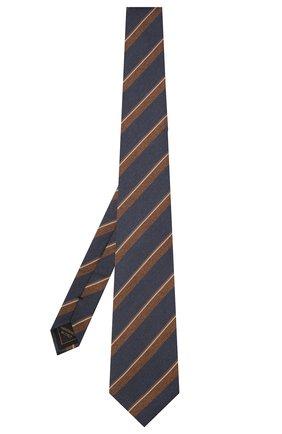 Мужской шелковый галстук BRIONI темно-синего цвета, арт. 062I00/01420 | Фото 2 (Материал: Текстиль; Принт: С принтом)