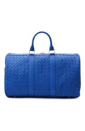 Мужская кожаная дорожная сумка BOTTEGA VENETA синего цвета, арт. 650066/V0E51 | Фото 1
