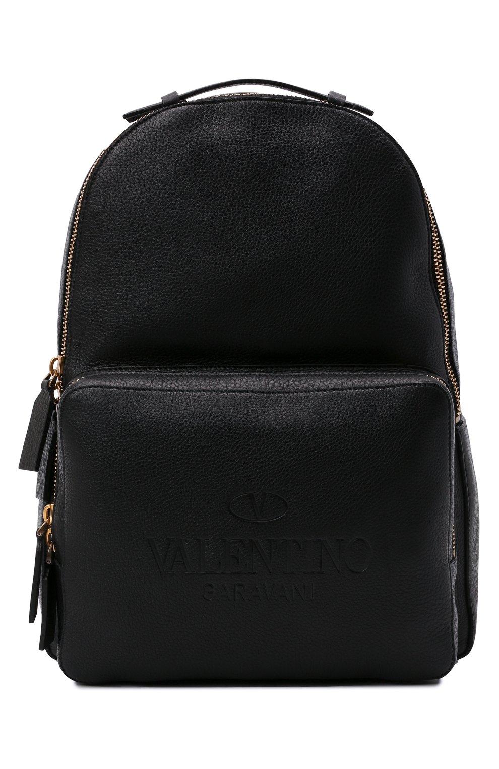 Мужской кожаный рюкзак VALENTINO черного цвета, арт. WY2B0340/QPT | Фото 1