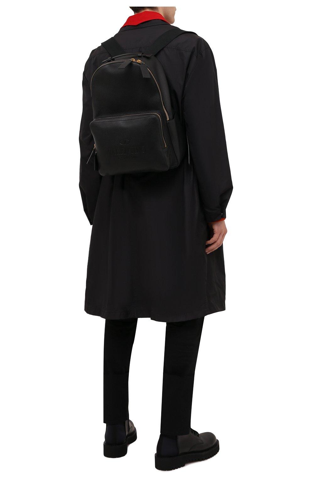 Мужской кожаный рюкзак VALENTINO черного цвета, арт. WY2B0340/QPT | Фото 2