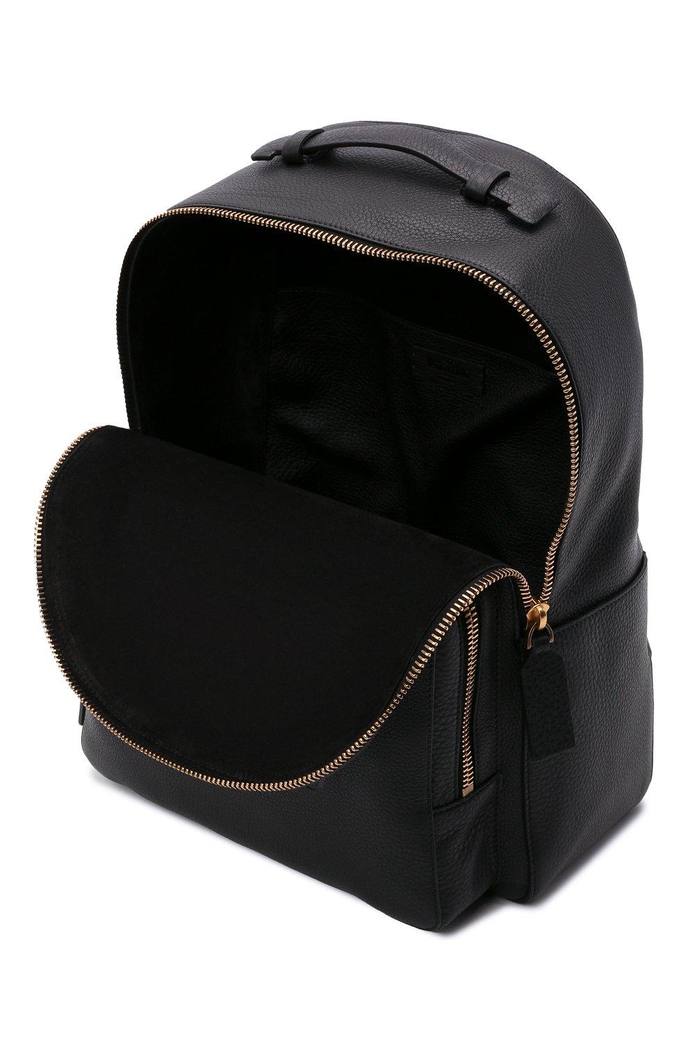 Мужской кожаный рюкзак VALENTINO черного цвета, арт. WY2B0340/QPT | Фото 4