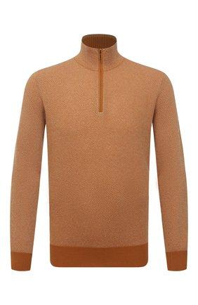 Мужской кашемировый джемпер LORO PIANA оранжевого цвета, арт. FAG4525 | Фото 1