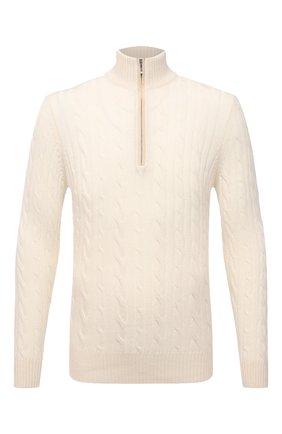Мужской кашемировый свитер LORO PIANA кремвого цвета, арт. FAD7358   Фото 1