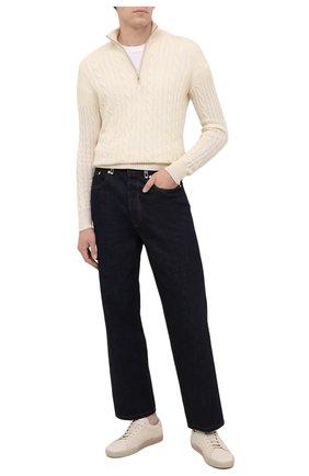 Мужской кашемировый свитер LORO PIANA кремвого цвета, арт. FAD7358   Фото 2