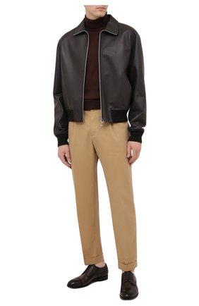 Мужские кожаные дерби ERMENEGILDO ZEGNA темно-коричневого цвета, арт. A5064X-LHNAX | Фото 2 (Материал внутренний: Натуральная кожа; Стили: Классический; Мужское Кросс-КТ: Броги-обувь)