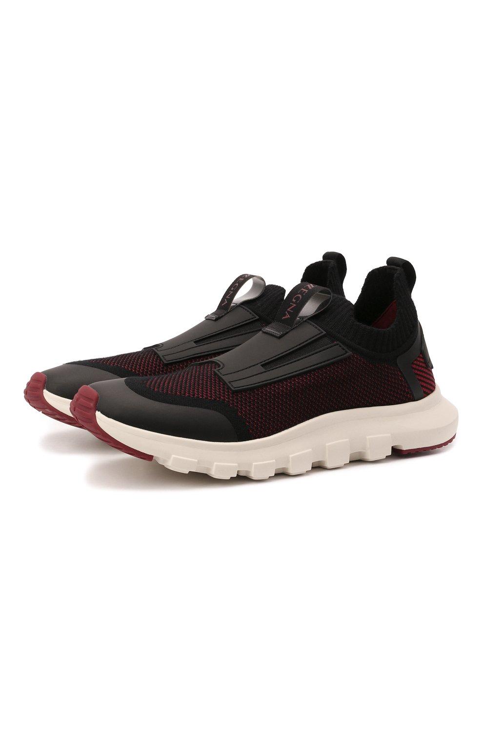 Мужские текстильные кроссовки techmerino sock 2.0 elastic Z ZEGNA бордового цвета, арт. A5106X-LHSTE | Фото 1 (Материал внешний: Текстиль; Материал внутренний: Текстиль; Подошва: Массивная; Стили: Спорт)