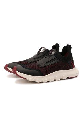 Мужские текстильные кроссовки techmerino sock 2.0 elastic Z ZEGNA бордового цвета, арт. A5106X-LHSTE | Фото 1